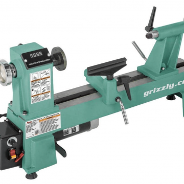 """Grizzly Industrial T25920 – 12"""" x 18"""" Variable-Speed Benchtop Wood Lathe"""